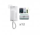 AKB-12 - аудио комплект на 12 абонентов для i2-BUS системы домофона ELCOM