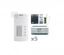 AKF-05 - аудио комплект на 5 абонентов для i2-BUS системы домофона ELCOM