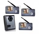 HZ-356MA13 - беспроводной видео домофон (3 монитора)