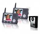 HZ-357MA12 - беспроводной видео домофон (2 монитора)