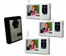 HZ-359MA12 - беспроводной видео домофон (3 монитора)