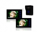 HZ-806WMJ12 - беспроводной видео домофон (2 монитора)