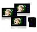 HZ-806WMJ13 - беспроводной видео домофон (3 монитора)