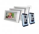 SY-803+D9ID-white 2/3 - комплект видео домофона с RFID (2 камеры, 3 монитора)