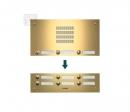 TMG-15/3 AKZENTE входная панель - PVD покрытие