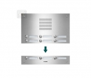 TVG12/3 ESTA ieejas panelis audio domofonam