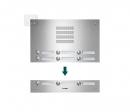 TVG9/3 ESTA ieejas panelis audio domofonam